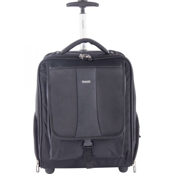 "bugatti Carrying Case (Rolling Backpack) for 15.6"" Notebook, Travel Essential - Black"