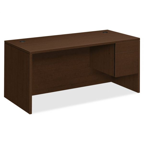 "HON 10500 Series Right Pedestal Desk | 1 Box / 1 File Drawer | 66""W"
