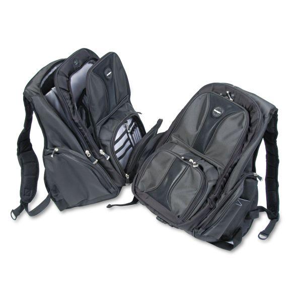 Kensington Contour Laptop Backpack, Nylon, 15 3/4 x 9 x 19 1/2, Black