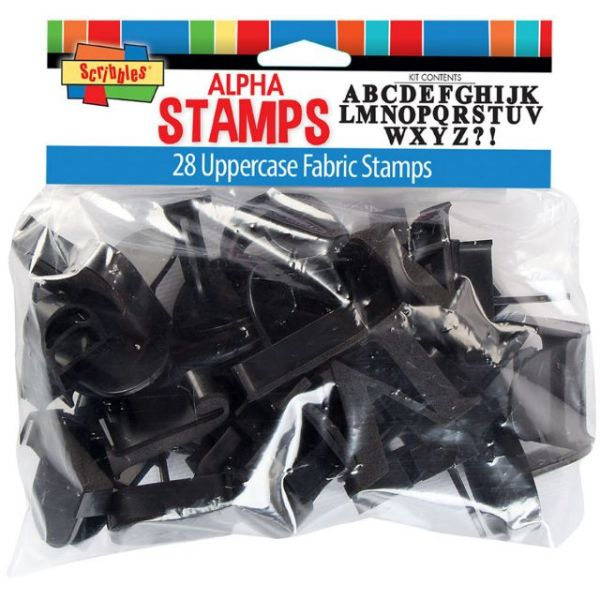 Uppercase Alphabet Stamp Kit 28/Pkg