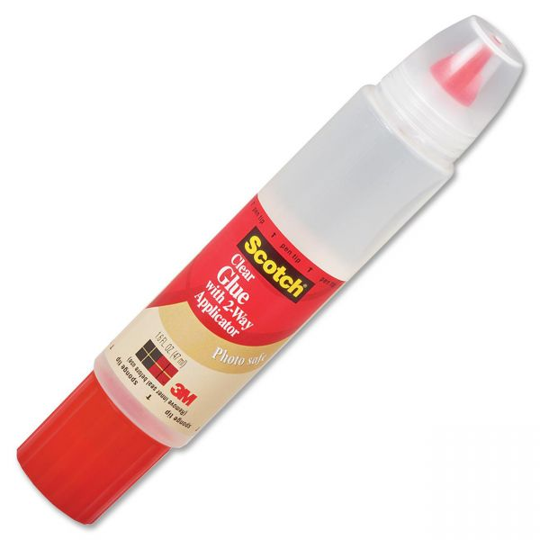 Scotch 2-Way Applicator Clear Glue Stick