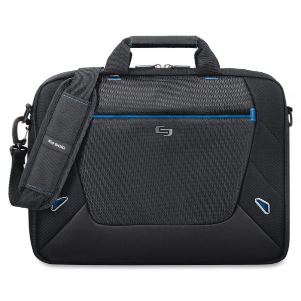 "Solo Tech Carrying Case (Briefcase) for 16"" Notebook - Black, Blue"