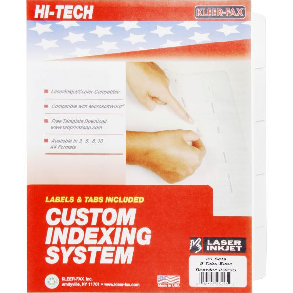 Kleer-Fax HiTech Custom Index Dividers