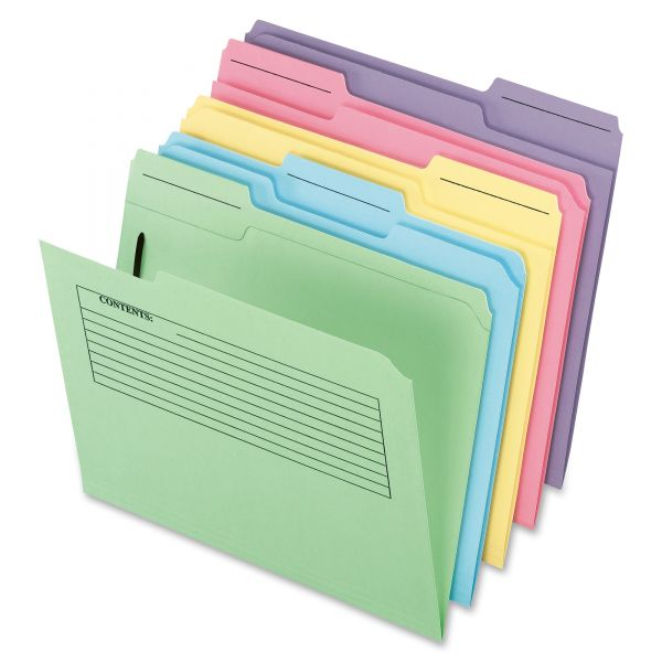 Pendaflex Printed Notes File Folders With Fasteners