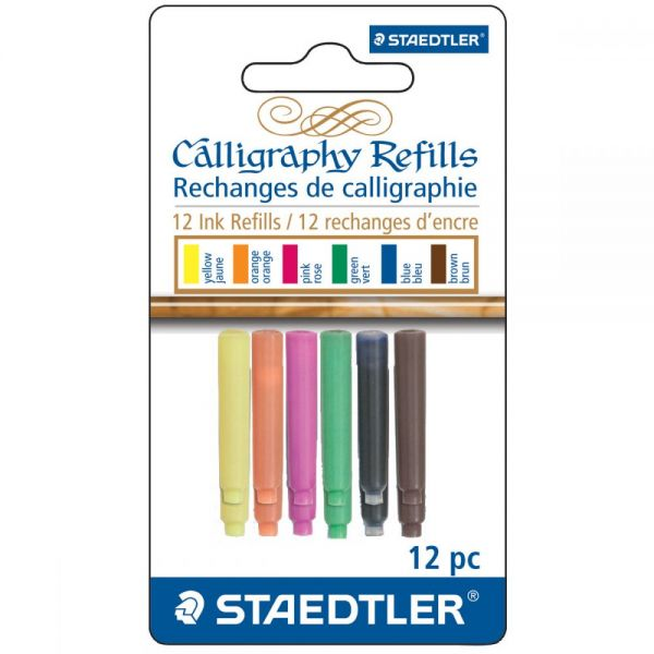 Calligraphy Pen Ink Refills 12/Pkg