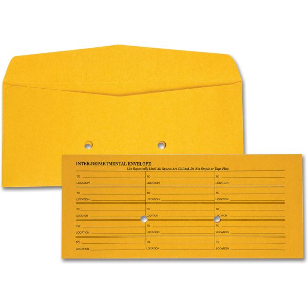 Quality Park Light Brown Fold Flap Kraft Trade Size Interoffice Envelope, #11, 500/box