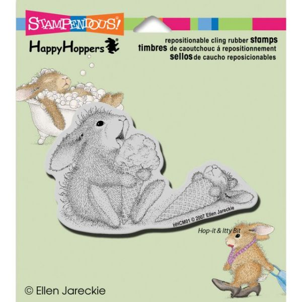 "Stampendous HappyHopper Cling Rubber Stamp 3.5""X4"" Sheet"