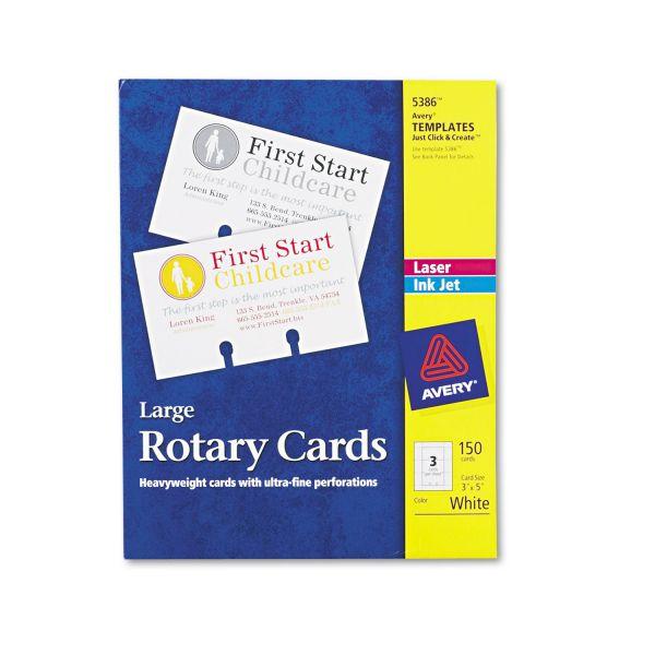 Avery Laser/Inkjet Rotary Card