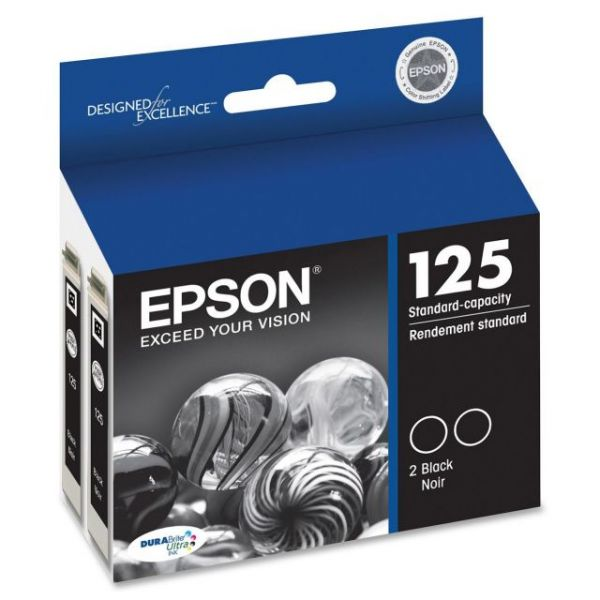 Epson 125 Black Twin-Pack Ink Cartridges (T125120-D2)