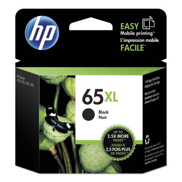 HP 65XL Black High Yield Ink Cartridge (N9K04AN)