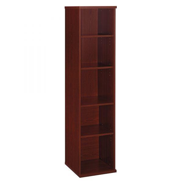 Bush Series C Collection 18W 5 Shelf Bookcase, Mahogany