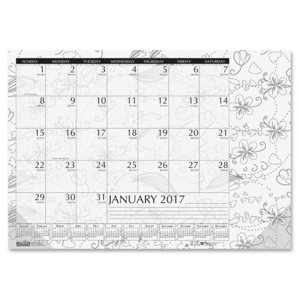 House of Doolittle Doodle Monthly Desk Pad Calendar