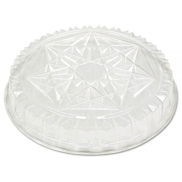 Pactiv Round CaterWare Dome-Style Food Container Lids, 1-Comp, Clear, 12dia, 50/Carton