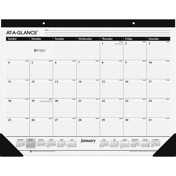 AT-A-GLANCE Ruled Desk Pad, 24 x 19, 2019