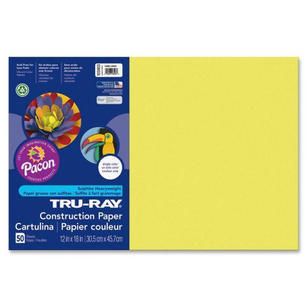 Tru-Ray Heavyweight Yellow Construction Paper