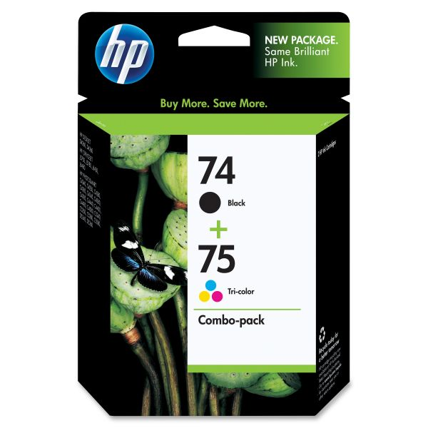 HP 74/75 Combo Pack Ink Cartridges (CC659FN)