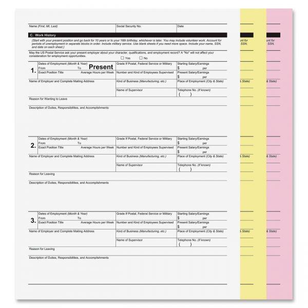 PM Company Digital 3-Part Computer Paper