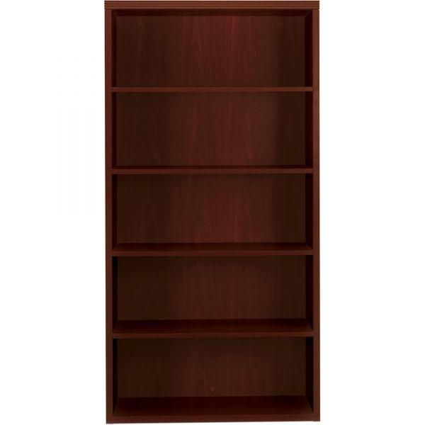 HON Valido 11500 Series Bookcase, Five-Shelf, 36w x 13-1/8d x 71h, Mahogany