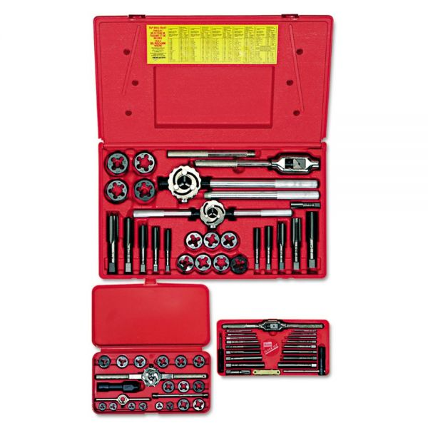 IRWIN HANSON Tap & Die Set, Steel, 66 Pieces