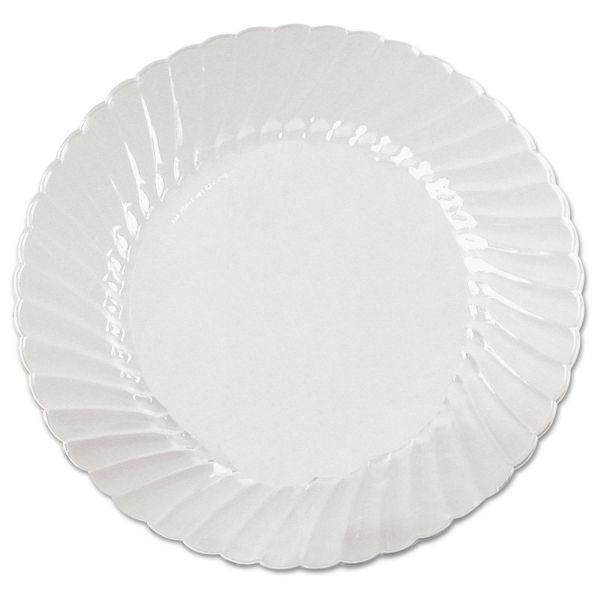WNA Classicware Plates, Plastic, 9 in, Clear, 18/Bag, 10 Bag/Carton