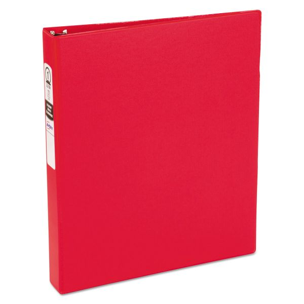 "Avery Economy Non-View Binder with Round Rings, 11 x 8 1/2, 1"" Capacity, Red"