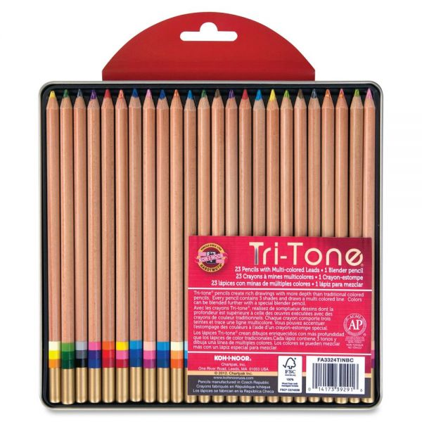 Koh-I-Noor Tri-Tone Multi-colored Pencils