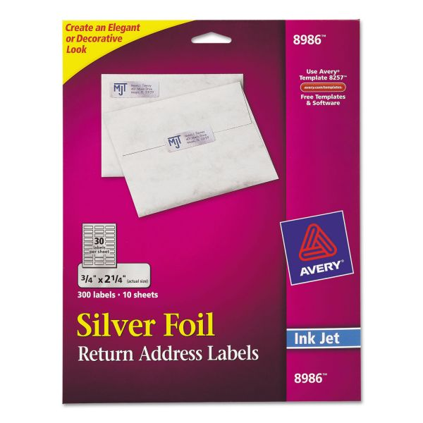 Avery Silver Foil Return Address Labels