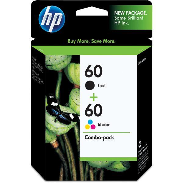 HP 60 Black/Tri-Color Ink Cartridges (N9H63FN)