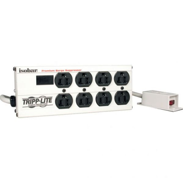 Tripp Lite Isobar Ultra Surge 9in Remote On/Off Switch 8 outlet 12' Cord 3840 Joules