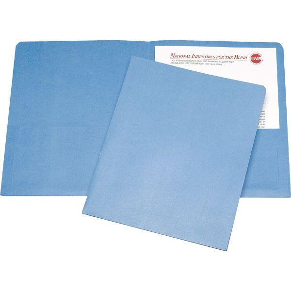 Skilcraft Light Blue Two Pocket Folders
