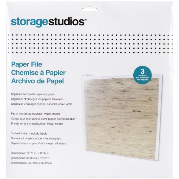Storage Studios Paper Files W/Tabbed Dividers & Labels 3/Pkg