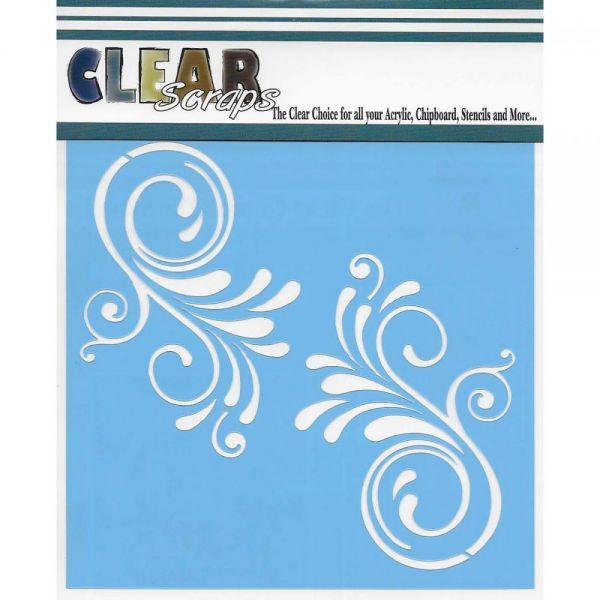"""Clear Scraps Stencils 12""""X12"""""""