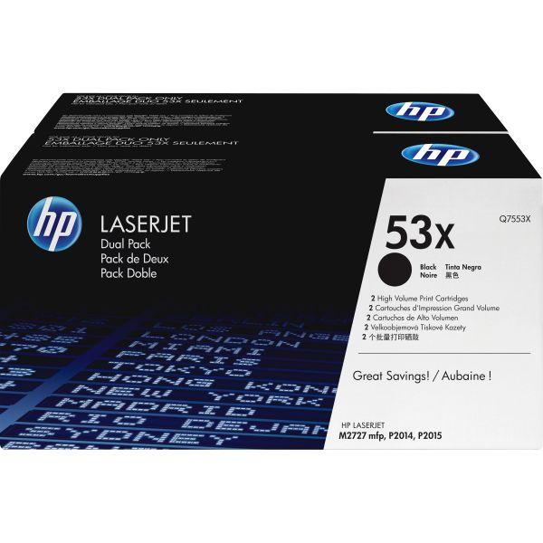 HP 53X Black High Yield Toner Cartridges (Q7553XD)