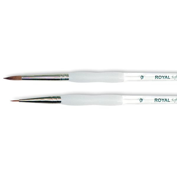 Soft-Grip Pure Sable Round Detail Brush