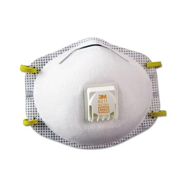 3M Particulate Respirator 8211, N95, 10/Box