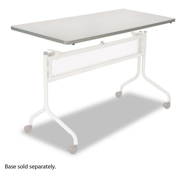 Safco Impromptu Series Mobile Training Table Top, Rectangular, 60w x 24d, Gray