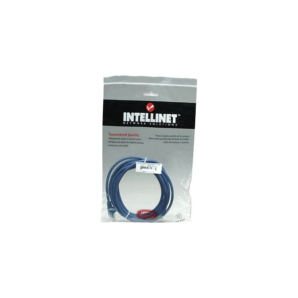 Intellinet Patch Cable, Cat6, UTP, 5', Blue
