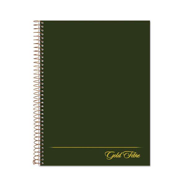 Ampad Gold Fibre Wirebound Writing Pad w/Cover, 9 1/4 x 7 1/4, White, Green Cover