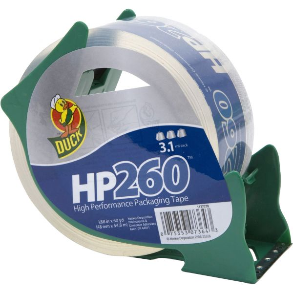 Duck Brand HP260 High Performance Packing Tape with Dispenser