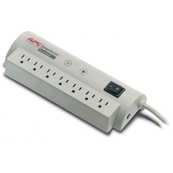 APC SurgeArrest Personal 7 Outlet w/Tel 120V