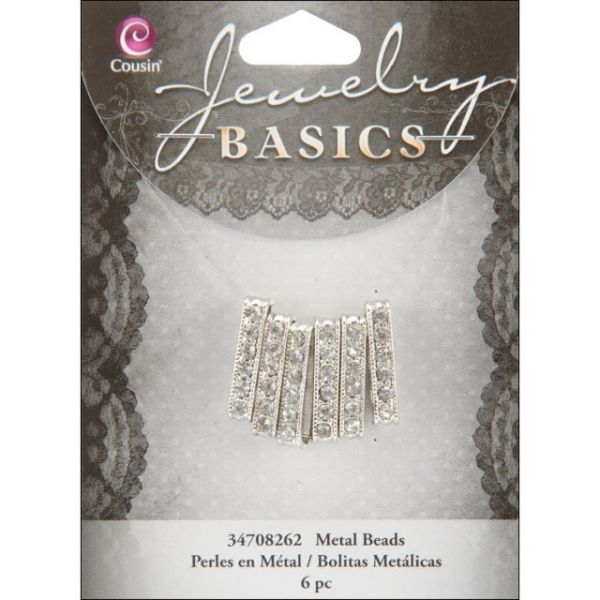 Jewelry Basics Metal Beads 21mm 6/Pkg