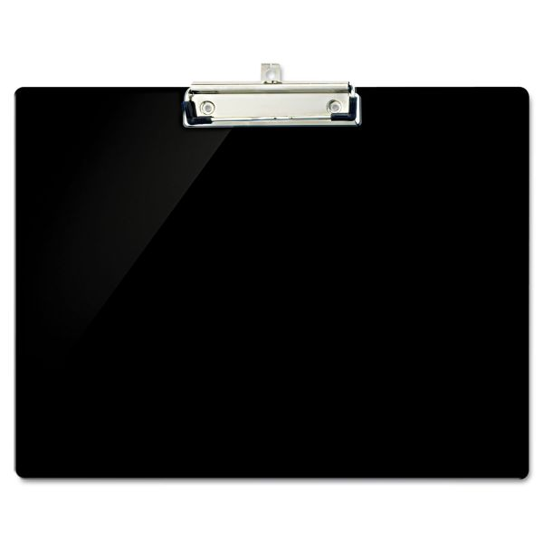 "Officemate Recycled Plastic Landscape Clipboard, 1/2"" Capacity, Black"