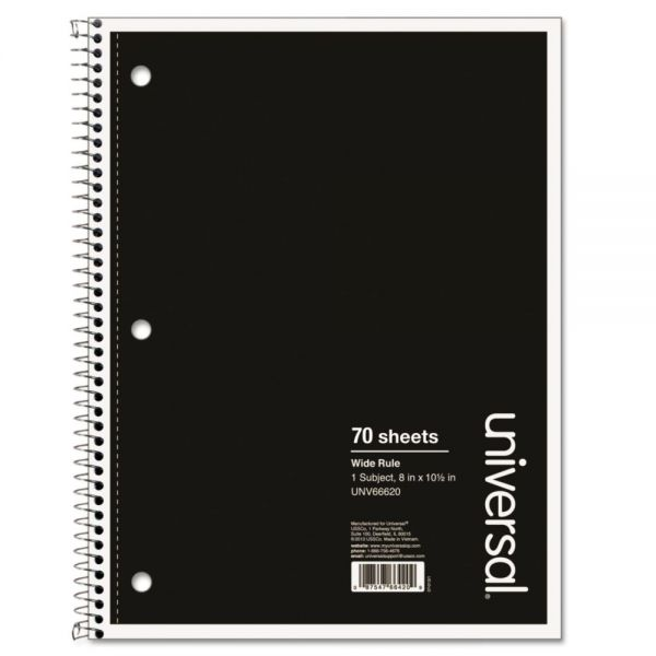 Universal Wide Ruled Spiral Notebook