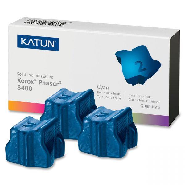 Katun 38704 Compatible 108R00605 Solid Ink Stick, Cyan, 3/BX