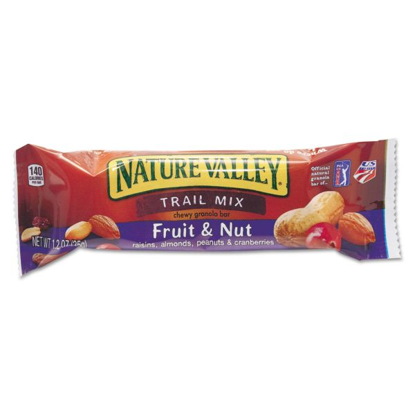 Nature Valley Nature Valley Granola Bars, Chewy Trail Mix Cereal, 1.2oz Bar, 16/Box
