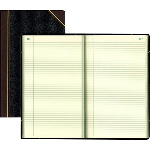 National Texthide Notebook, Black/Burgundy, 500 Pages, 14 1/4 x 8 3/4