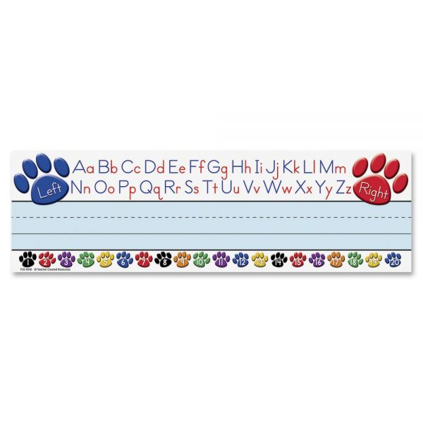 Teacher Created Resources Paw Prints Left/Right Alphabet Name Plates