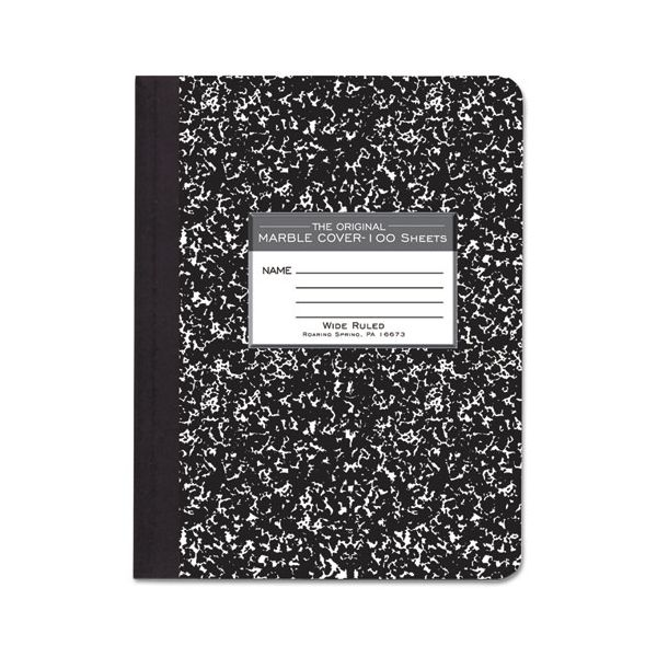 Roaring Spring Marble Cover Composition Book, Wide Rule, 9 3/4 x 7 1/2, 100 Pages