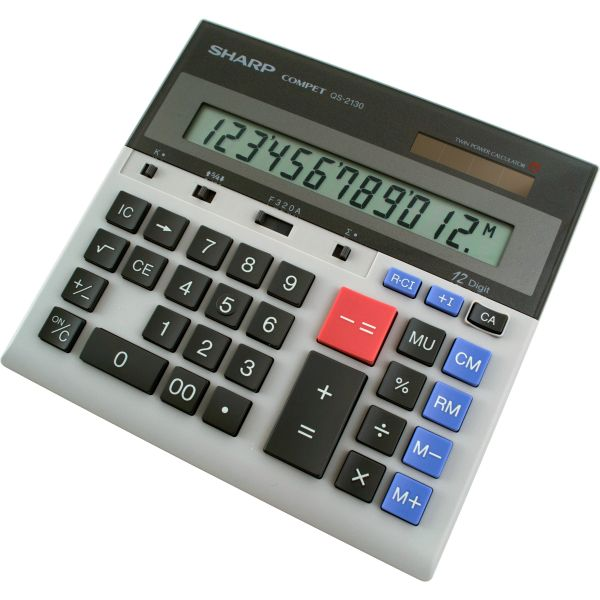Sharp Calculators Sharp QS2130 Commercial Display Calculator