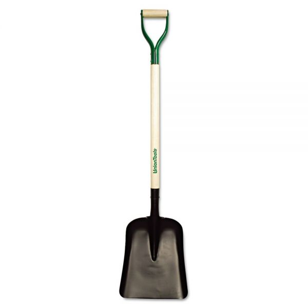 UnionTools General-Purpose Street Shovel, D-Handle, #2, 34-Inch Handle